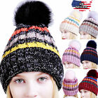 Women Men Winter Spring Crochet Knit Slouchy Beanie Beret Cap Slouch Ski Hats US