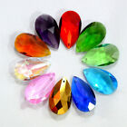 10pcs Pear Shape Crystal Faceted Teardrop Pendants Loose Beads Jewelry 22*13mm