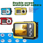 Double Screen HD 24MP Waterproof Digital Video LED Camera 1080P DV Underwater