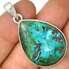 Hemimorphite In Malachite Druzy 925 Sterling Silver Pendant Jewerly AP28809