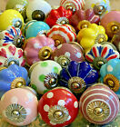 Door Knobs Ceramic Hand Painted Top Quality Cupboard Knobs in Sets of 3 to 18