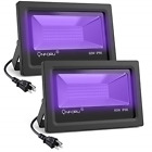 Onforu 2 Pack 60W UV LED Black Light Flood Light with Plug5ft Cable, IP66 for in