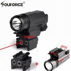 2In1 Tactical Mini Red Dot Laser Sight Super Bright Flashlight W/20mm Rail mount