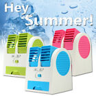 Mini Small Fan Cooling Portable Desktop PC Dual Bladeless Air Conditioner