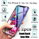 Protector Protective Film Tempered Glass For iPhone XS Max X XR 8 8Plus 7 6