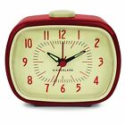 Classic Retro Analogue Alarm Clock Glow In The Dark Hands Battery Operated