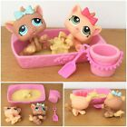 Littlest Petshop LOT 2 PETRIPLETS KITTY CATS 1335 1336 SAND BOX BUCKET SHOVEL