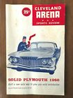 Vintage AHL Hockey Game Program CLEVELAND BARONS vs HERSEY BEARS from 1960