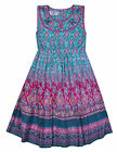 Girls Summer Dress Kids Aztec Gypsy Print Dresses Age 3 4 5 6 7 8 9 10 11 Years