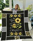 "You Are My Sunshine Blanket 60-102"" Washable PreShrink Poly Cotton Spandex Quilt image"
