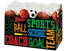 SPORTS FANATIC gift Basket Box With Crinkle Shred Choose Size & Shred Color