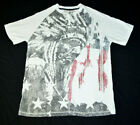 Winchester The American Legend Native Indian USA White Black Red T Shirt Mens L