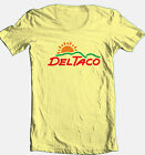 Del Taco T-shirt retro vintage style 70's fast food cotton graphic yellow tee image