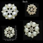 10X Alloy Flower Rhinestone Pearl Charms Pendants For DIY Jewelry Making Crafts