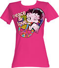 Betty Boop 1930's Cartoon Peace And Love Womans Fitted T Shirt £25.73 GBP on eBay