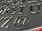 Quality 3d Chrome Letters Self Adhesive A-z @ Art Door Walls Sign. Height 5cm
