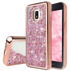 For Samsung Galaxy J2 Shine/Pure/Dash/Core 2019 Case Chrome Bling+Tempered Glass