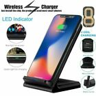 Qi Wireless Charger Quick Charging Stand Dock For Apple iPhone 8+ XS Samsung USA