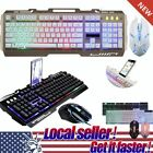 LED Rainbow Color Backlight Game Mice USB Wired Gaming Keyboard Mouse Set