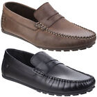 Base London Attwood Driving Shoes Mens Formal Casual Classic Leather Loafers
