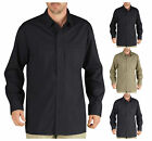 Dickies Long Sleeve Shirt Men Tactical Ventilated Ripstop Pocket Plaid Relaxed