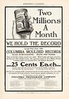 1903 COLUMBIA PHONOGRAPH CYLINDER RECORDS AD-2 MILLION A MONTH
