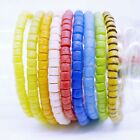 Full Strand Multi African Beads Recycled Glass Handmade Spacers, 4-6 mm