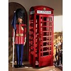 AF4353 -Authentic Replica British Telephone Booth -Solid Pine w/72 Glass Widows!