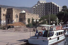 Vintage 1980 Tiberias Isreal Boat Sea of Galilee Hotel Ruins 35mm Slide Photo