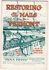 Restoring The Mails of Vermont 1927 Flood Story VT