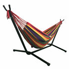Portable Outdoor Polyester Hammock Swinging bed Metal Stand W/ English Manual