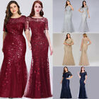 Ever-pretty Plus Size Formal Mermaid Bridesmaid Dresses Cocktail Prom Gown 07707