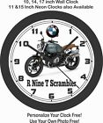 2019 BMW R NINE T SCRAMBLER MOTORCYCLE WALL CLOCK-TRIUMPH, DUCATI, ROYAL ENFIELD $28.99 USD on eBay