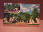 Postcard UNUSED   LINEN 1940'S ERA COLONIAL VILLAGE MOTEL SALT LAKE CITY UTAH