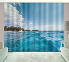 3D Window Curtain Blockout Fabric Drapes 2 Panels Set Sea Reef Home Decor
