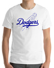 Los Angeles Dodgers White T-Shirt Royal Graphic Cotton Men Adult Logo Jersey LA on Ebay