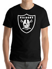 Oakland Los Angeles Raiders Las Vegas black T-Shirt white Graphic Cotton S-2XL on Ebay