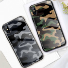 Camouflage Case For iPhone  phone Cases Tempered Glass Coque Pouzdro Fundas Hard