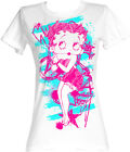 Betty Boop 1930's Cartoon Colorful Sketch Womans Fitted T Shirt $31.74 AUD on eBay