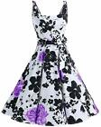 Bbonlinedress 1950's Bowknot Vintage Retro Polka Dot Rockabilly Swing Dress