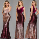 Ever-pretty US V-neck Sexy Pageant Prom Gowns Formal Celebrity Evening Dresses