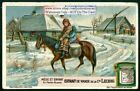 Russian Mother And Child On Horse Enfant En Petite Russie 1920s Trade Ad Card