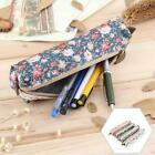 Assorted Flower Floral Canvas Pen Holder Stationery Pencil Makeup Pouch Bags Q