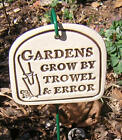 Funny Ceramic Plague Quote Garden Plant Container Sign Hanger Stoneware Saying