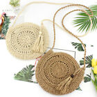 Us Women Straw Bag Handwoven Round Rattan Handbags Knitted Crossbody Bag Tote