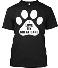 I Love My Great Dane Dog T-shirts Tee M-3XL US 100% cotton clothing trend 2019