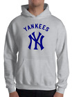 New York YANKEES gray HOODIE Graphic Cotton Men WOMEN Adult Logo NY S-2XL on Ebay