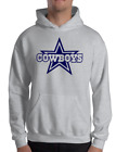 DALLAS COWBOYS gray hoodie SWEATSHIRT NAVY Graphic Cotton Adult Logo S-2XL on eBay