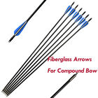 "26""28""30""Archery Fiberglass Arrows for Compound Bow Hunting Outdoor Games"