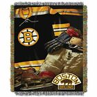"""Bruins OFFICIAL National Hockey League, """"Vintage"""" 48""""x 60"""" Woven Tapestry Throw $36.71 USD on eBay"""